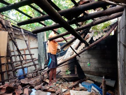 Pohon Tumbang Menimpa Dapur Rumah Warga Pedukuhan Ngrancah
